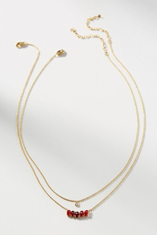 Birthstone Layered Necklace Set