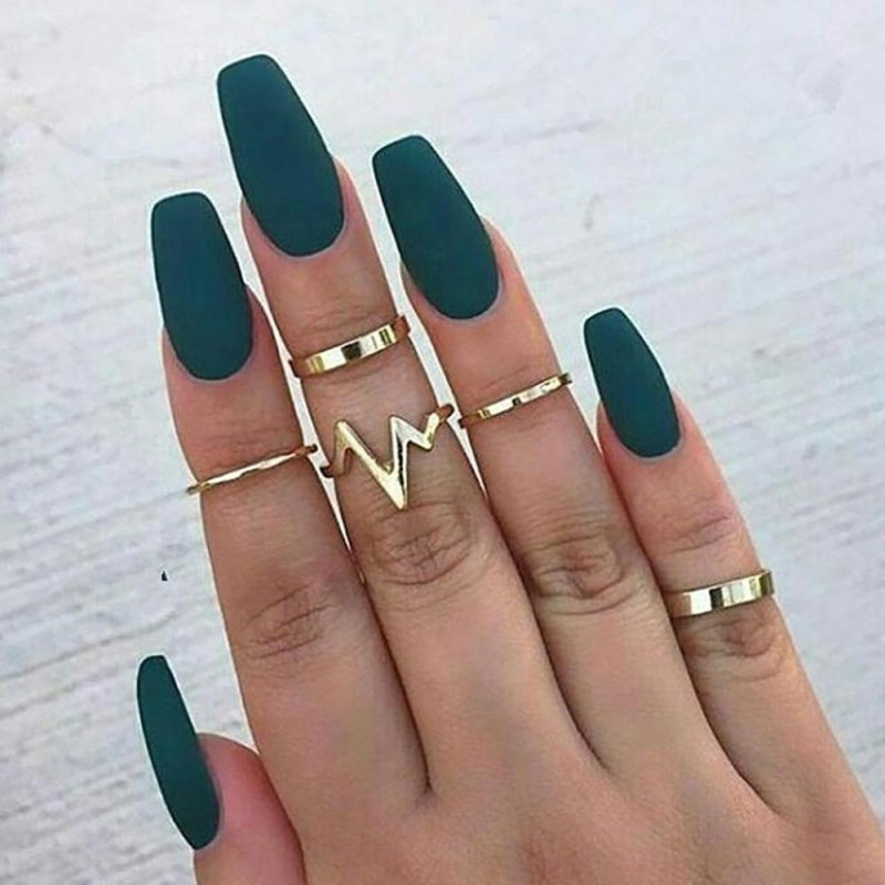 Electronica Minimal Simple Heartbeat Pulse Stackable Midi Ring