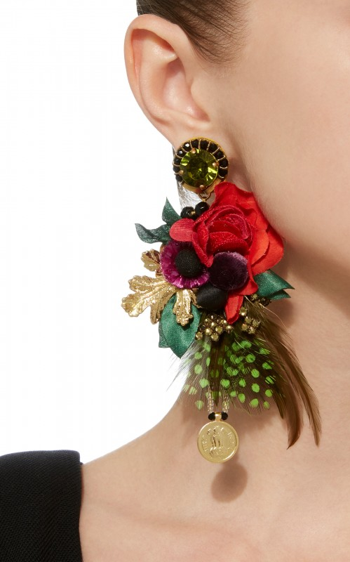 Ranjana Khan Leme Floral Statement Earrings