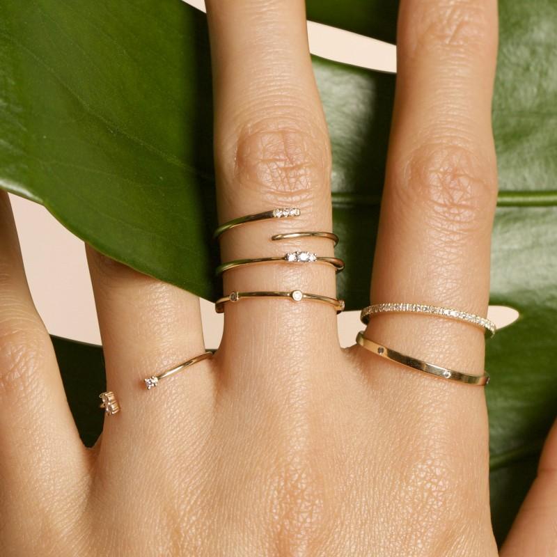 White Diamond Pave Eternity Band Rings