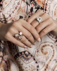 Soft Rose and Cream Colors Rings