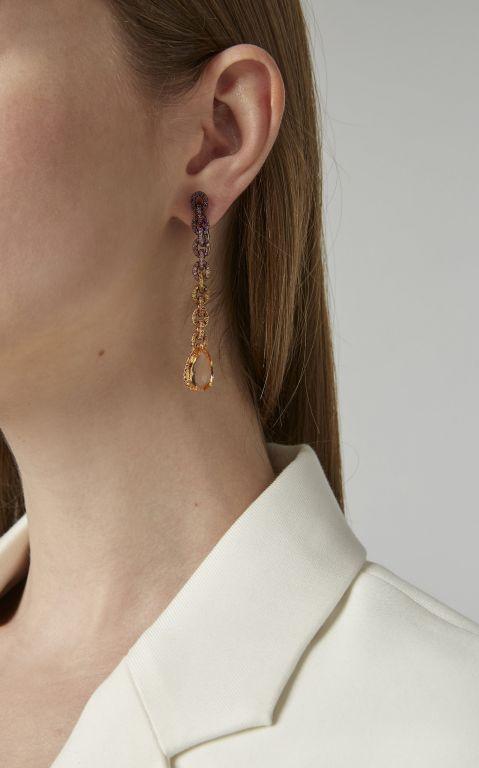 Fabio Salini Chain Earrings