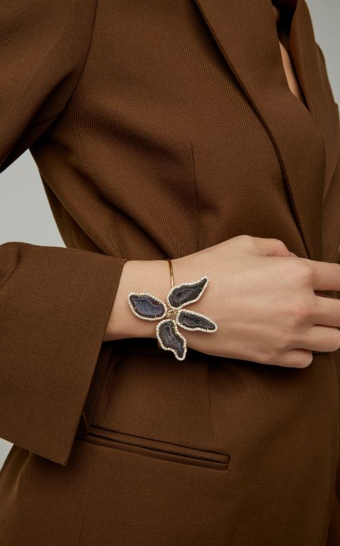 Kimberly McDonald 18K Gold, Geode And Diamond Bracelet