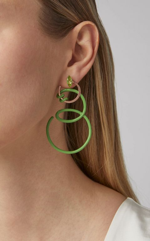 Bea Bongiasca Double Curl Vine Earrings